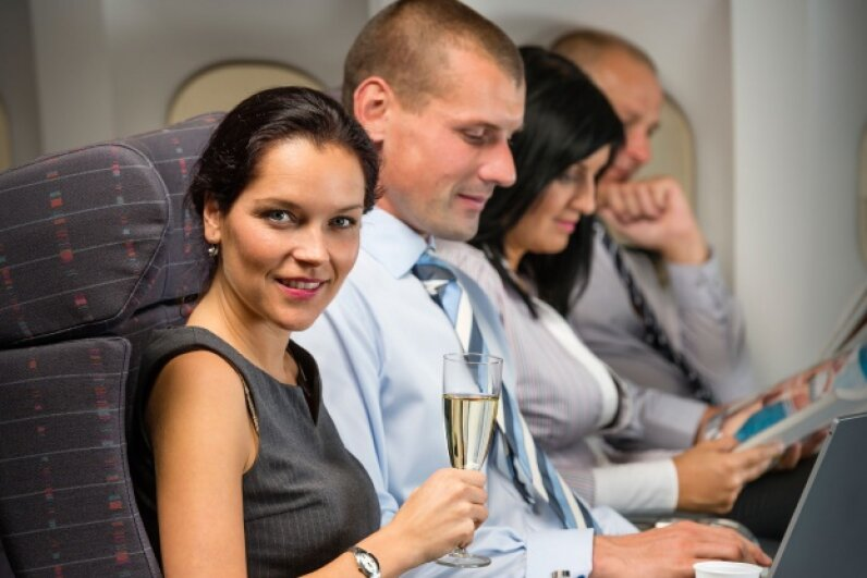 Just what you wanted to hear: All those people on your flight are passing more gas than usual. © CandyBoxImages/Thinkstock