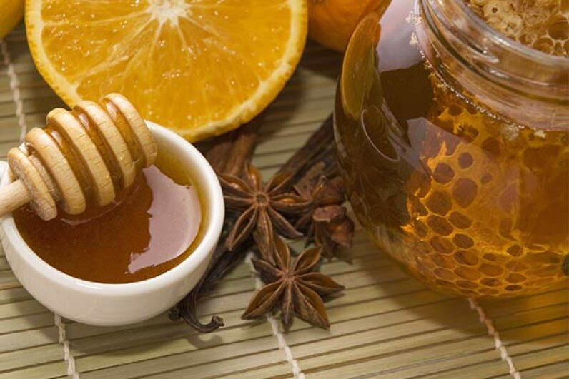 Honey contains a protein that is being studied as a burn and/or skin infection treatment. Zoonar/j.wnuk/Thinkstock