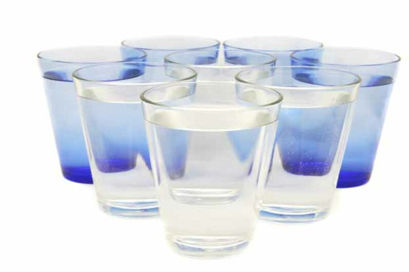 Eight glasses of water is way more than the average person needs in a day. iStockphoto/Thinkstock