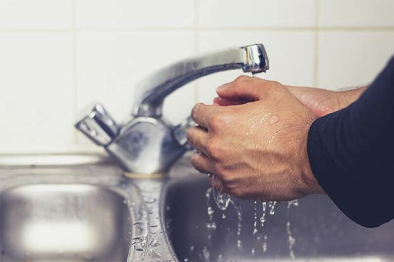 To get rid of germs, you should wash your hands for at least 20 seconds. lofilolo/iStock/Thinkstock