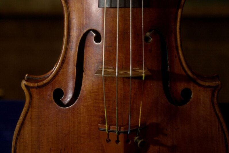 A close-up look at a 300-year-old Stradivarius violin, created by king of strings Antonio Stradivari. Chris Hondros/Newsmakers