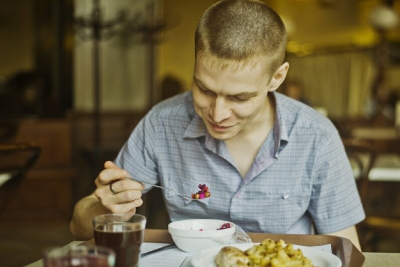 You can turn your after-meal critiques into a profession by writing reviews on the restaurants you visit. © Aleksander Rubtsov/Blend Images/Corbis