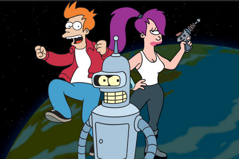 "Animated series ""Futurama"" started out on Fox but ended its career on Comedy Central. Comedy Central"