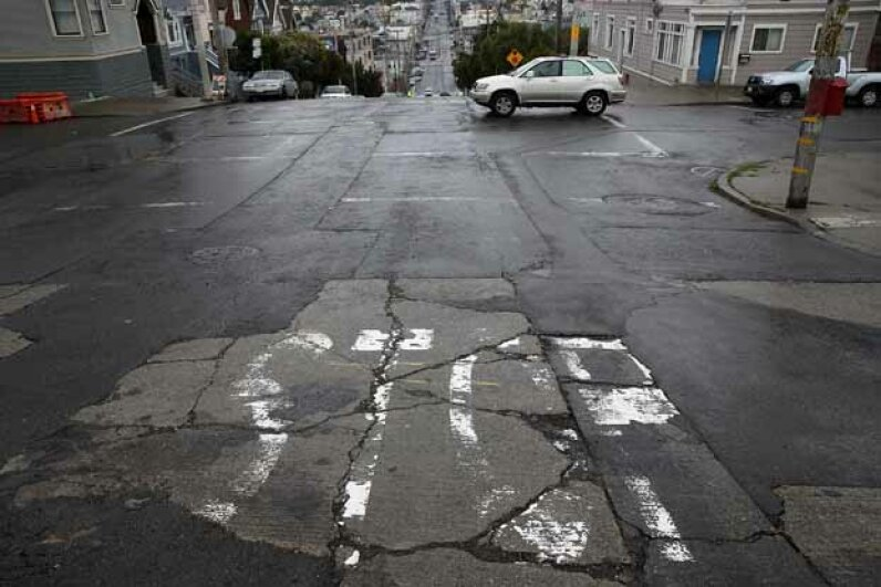 If road concrete was able to heal itself, cities could save a lot of money. Justin Sullivan/Getty Images