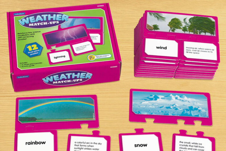 These cards let kids learn facts about the weather in a very fun way. Lakeshore Learning Materials