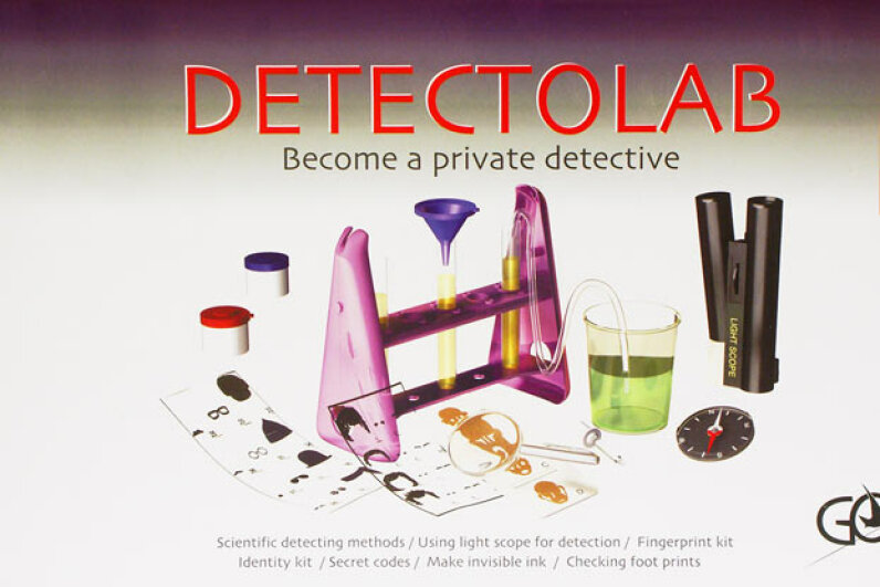 This kit includes all the stuff a budding forensic scientist would need, like a microscope and equipment for fingerprinting and deciphering secret messages. Creative Kidstuff