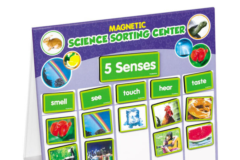 Younger kids will love playing with this board and magnets and learning about the senses, seasons and animals. Lakeshore Learning Materials