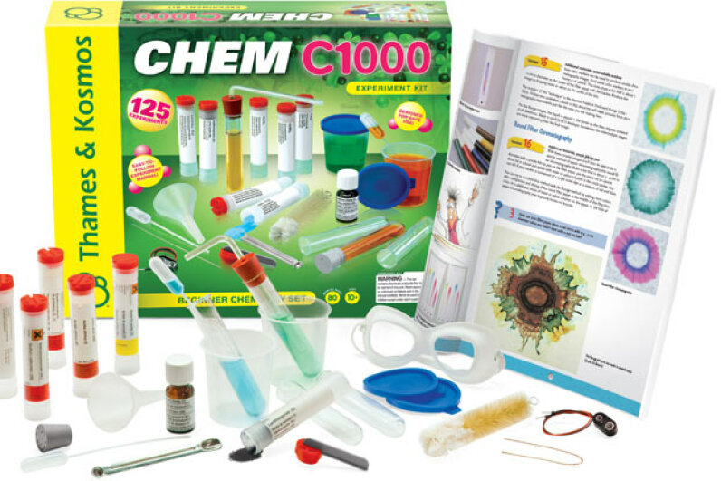This kit contains all the equipment and instruction for doing hands-on experiments on ordinary household ingredients. Creative Kidstuff