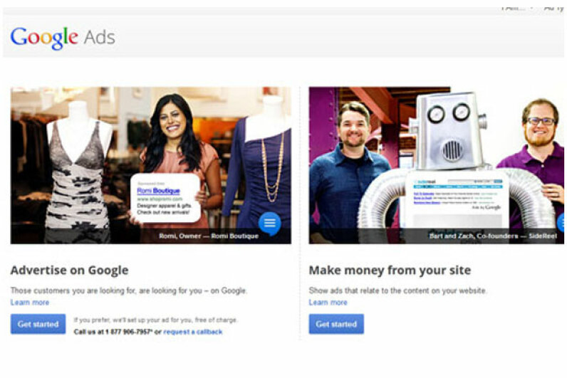 Google's online advertising program has been a huge success, so it was natural to think that a similar approach might work offline. Screen capture by HowStuffWorks staff