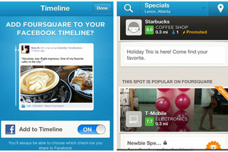 After leaving Google in frustration in 2007, Dennis Crowley went on to develop the immensely popular Foursquare, which enables users to find nearby friends, retailers and deals.  Screen capture by HowStuffWorks staff
