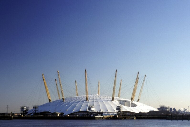 The Millennium Dome cuts an unmistakable profile in the London skyline. iStock/Thinkstock