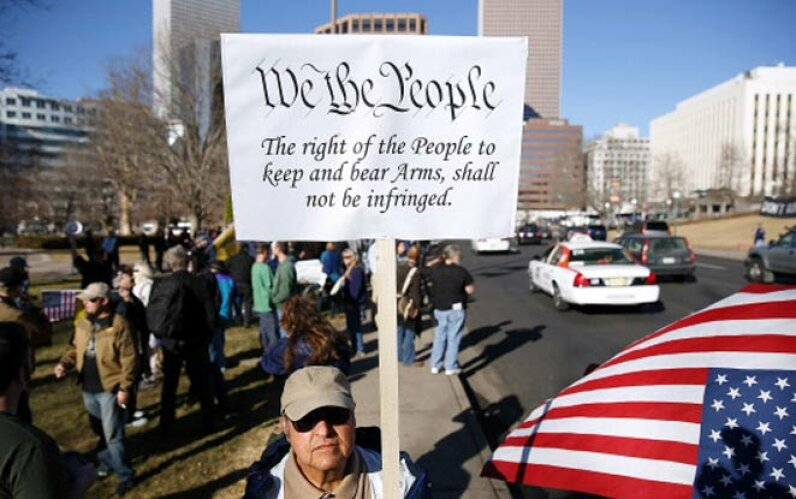 2nd amendment sign, rally