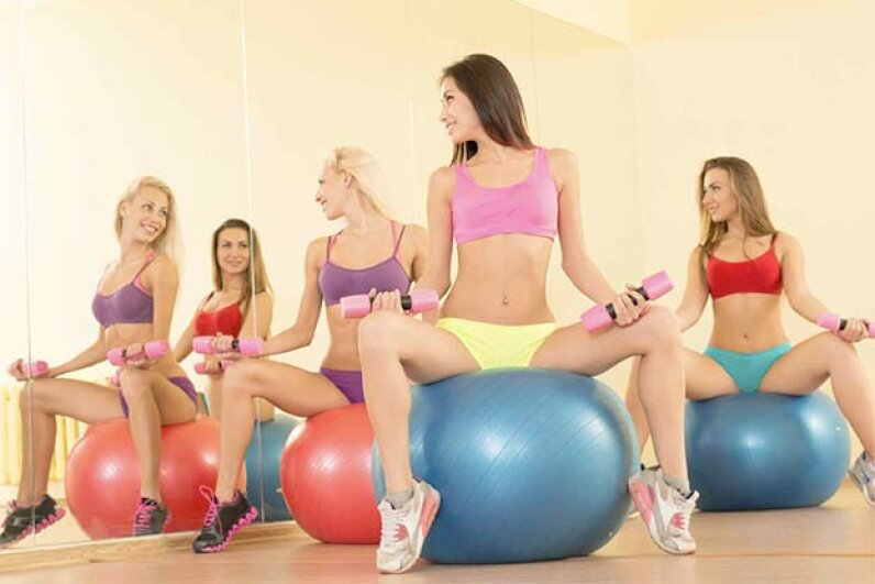 Yes, you  might look hot in your scanty workout gear, but not everyone wants to see your abs or your butt. jupiter55/iStock/Thinkstock