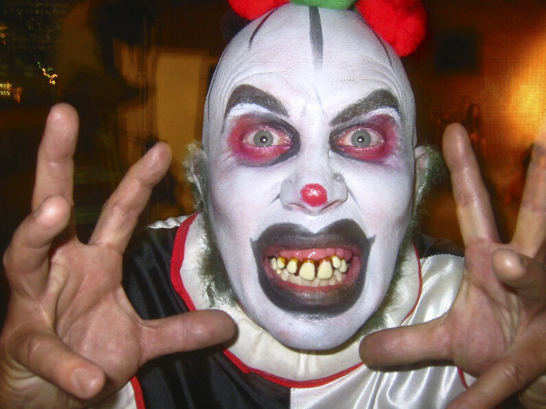 Scary clowns attacked visitors to Massacre Haunted House. Jim McGuire/Getty Images