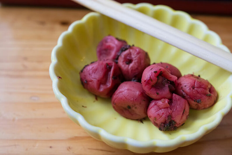 Umeboshi are considered healthy snacks in Japan and are sold pretty much everywhere. tomophotography/Getty Images