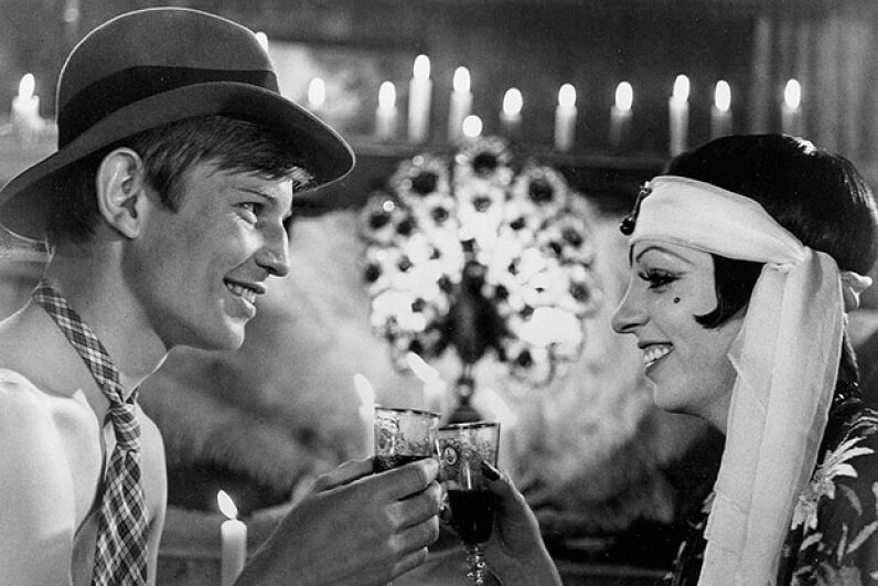 Liza Minnelli and Michael York enjoy some wine in the movie 'Cabaret'. The prairie oyster is sure to follow. ABC Photo Archives/ABC via Getty Images