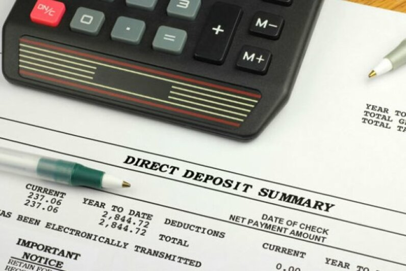 Many employers will allow you to split your direct deposit, so you can divert funds to a savings account each paycheck without even thinking about it. ©iStockphoto/Thinkstock
