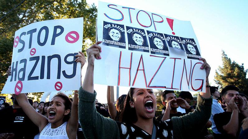 anti-hazing rally