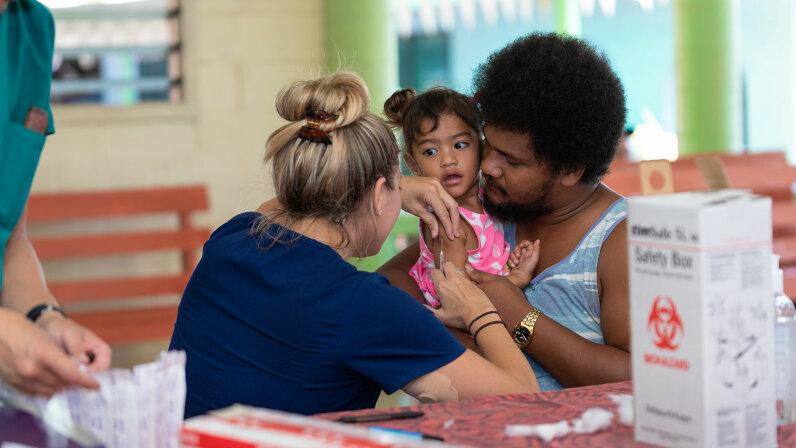 MMR vaccinations, Samoa