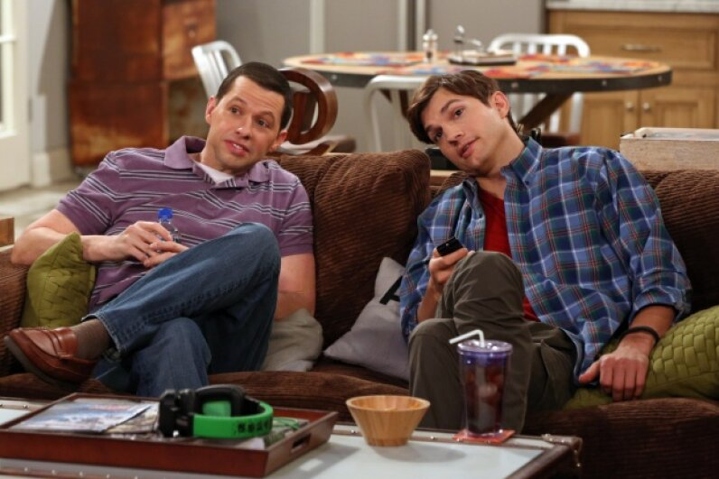 """TV actors' salaries can skyrocket when a show is a hit, like """"Two and a Half Men."""" Michael Yarish/CBS via Getty Images"""