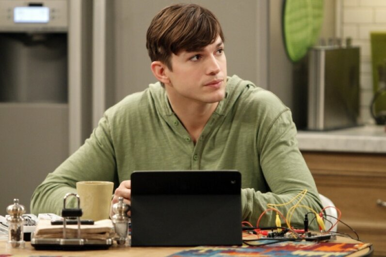 """Ashton Kutcher was already extremely successful before he joined the cast of the TV ratings gold mine """"Two and a Half Men.""""  Sonja Flemming/CBS via Getty Images"""