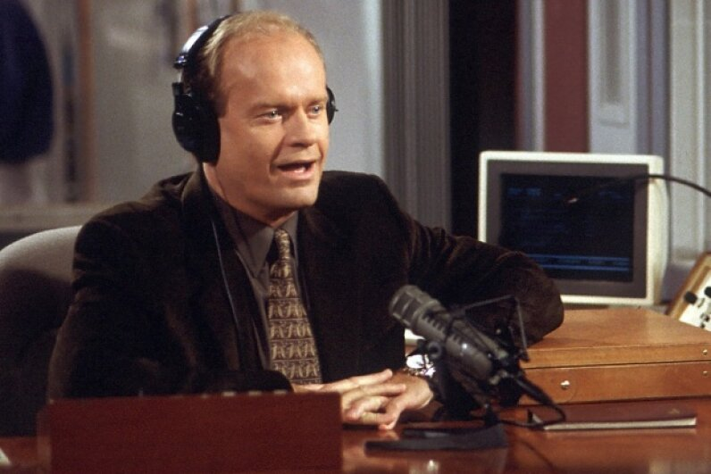 """Kelsey Grammer's supporting role in the TV hit """"Cheers"""" was so beloved that the actor scored a lead role in the Emmy-winning """"Frasier."""" NBCU Photo Bank/Getty Images"""
