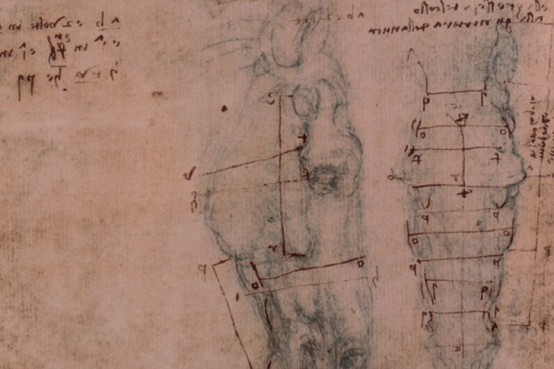 It isn't surprising that da Vinci, known for both his studies of anatomy and his mechanical creations, would have turned his hand to creating an automaton. © Alinari Archives/CORBIS