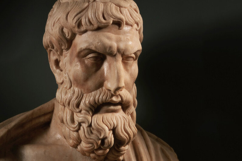 Epicurus was influenced by the philosophy of hedonism. © Alfredo Dagli Orti/The Art Archive/Corbis