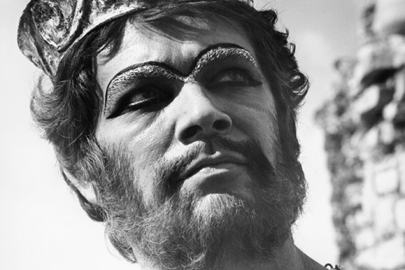 "Stephen Boyd portrays the defiant King Nimrod in a scene from the 1966 film ""The Bible: In The Beginning"".  20th Century-Fox/Getty Images"