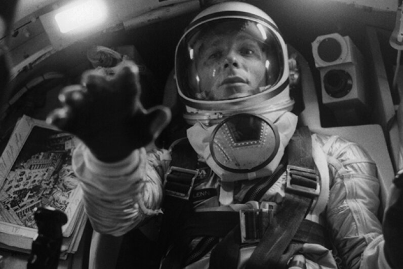 Ed Harris initially shocked filmmakers with his strong resemblance to astronaut John Glenn. Warner Brothers/Getty Images