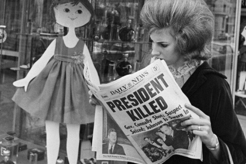 The comparisons people draw between the assassinations of presidents Lincoln and Kennedy are mere coincidences. Bettmann/CORBIS