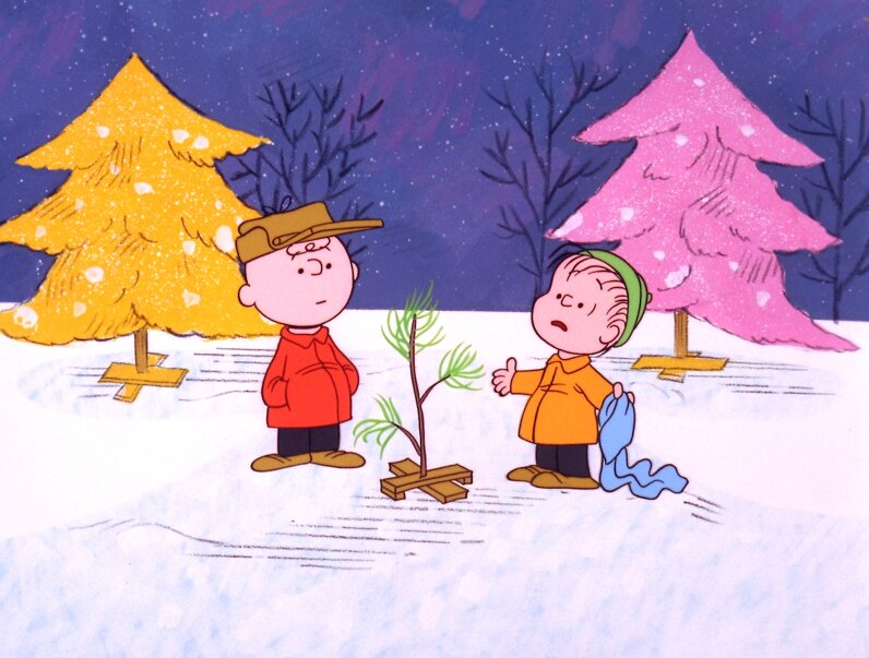 When Charlie Brown (left) decries about the overwhelming materialism he sees among everyone during the holiday season, he needs Linus' help to learn what the real meaning of Christmas is, in this scene from 'A Charlie Brown Christmas.' ABC Photo Archives/ABC via Getty Images
