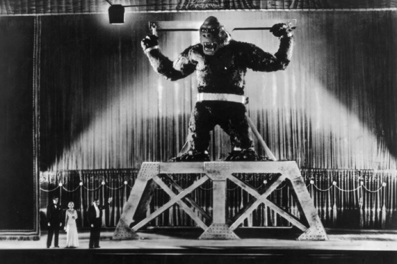 The king of giant movie monsters gets some stage time in New York City in 1933. Henry Guttmann/Moviepix/Getty Images