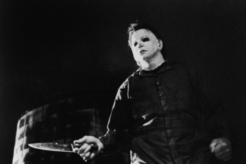 "Actor Tony Moran played the very first Michael Myers back in the 1978 slasher film ""Halloween."" He likely had no idea how many more slashers would walk in his scary footsteps. Fotos International/Moviepix/Getty Images"