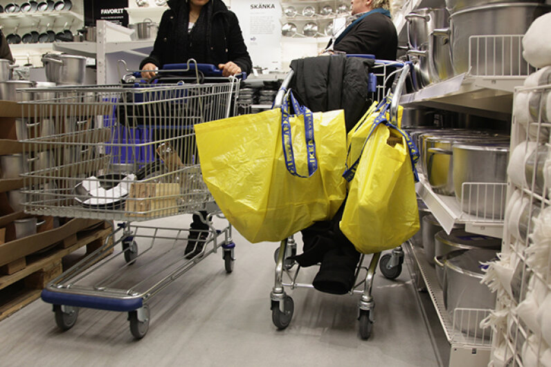 Don't be this person. Maintaining a clear and open path is key to helping maintain the sanity of your fellow shoppers. Andreas Rentz/Getty Images News/Thinkstock