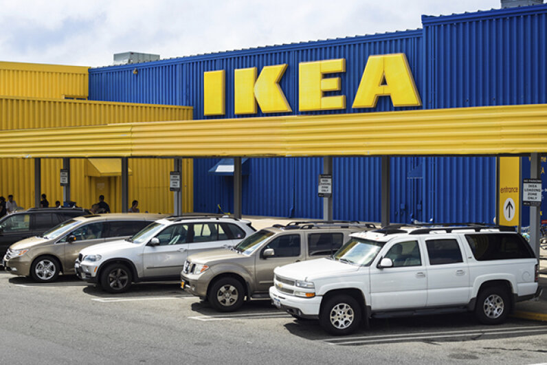 Try to use common sense in the chaotic parking lots and decks around IKEA, and if you run into trouble, ask an employee for help. littleny/iStock/Thinkstock