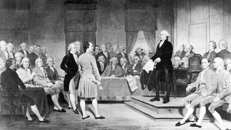 Signing of US constitution