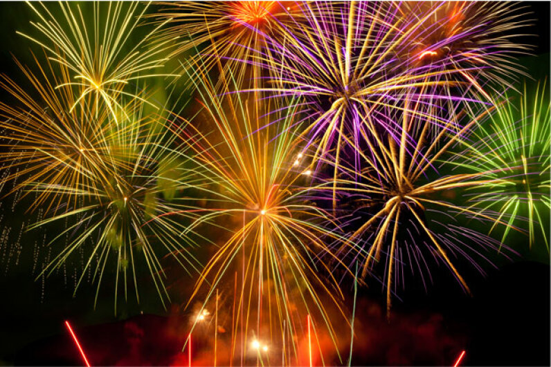 Fireworks, the colorful inspiration for powerful weapons? iStockphoto/Thinkstock