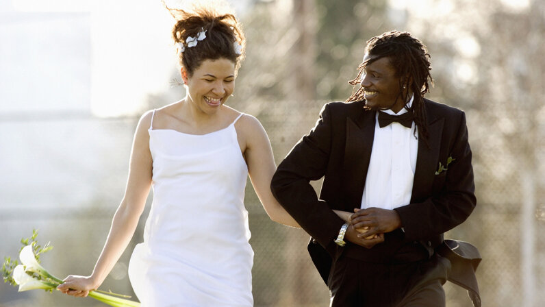 A marriage between people of different races hasn't always been legal in the United States. Gabe Palmer/Getty Images