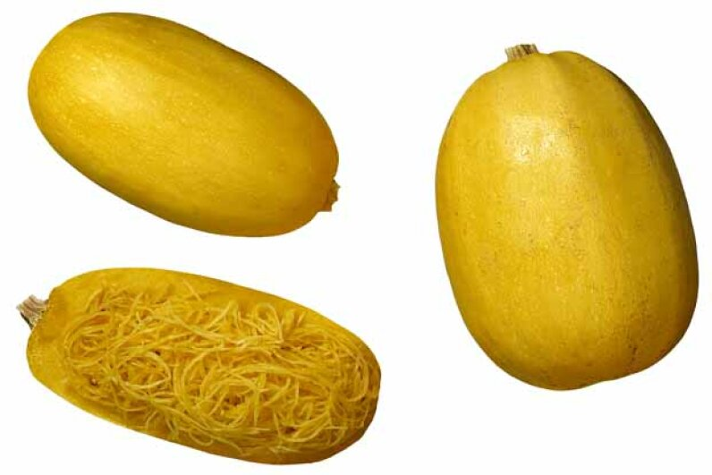 Kids will love pullin the strands out of this squash so they look like spaghetti. Brand X Pictures/Stockbyte/Thinkstock