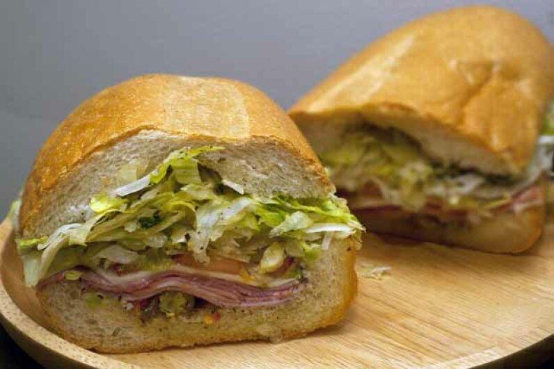 Italian toasties are a combination between a pizza slice and a submarine sandwich. lat42kahuna/iStock/Thinkstock