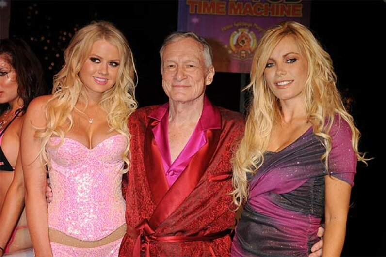 How'd you like to impersonate him? The real Hugh Hefner celebrated a DVD launch at the Playboy Mansion in Beverly Hills, 2010. Jeffrey Mayer/Getty Images