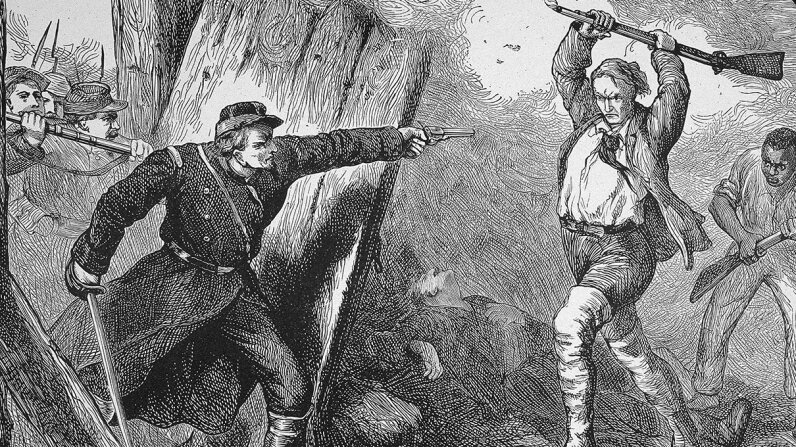 John Brown had the ambitious goal of raiding Harper's Ferry and inciting a slave insurrection, but the raid didn't go as planned. Kean Collection/Getty Images
