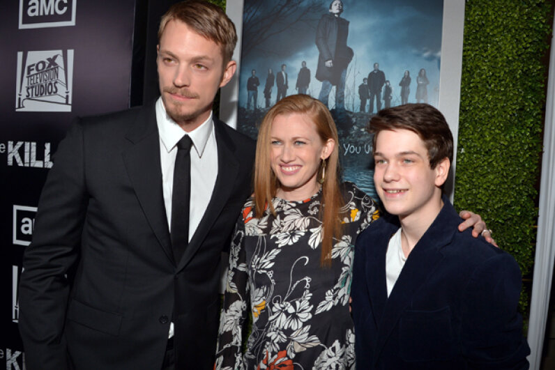 """The Killing"" actors Joel Kinnaman, Mireille Enos and Liam James at the 2012 second-season premiere. Lester Cohen/Getty Images"
