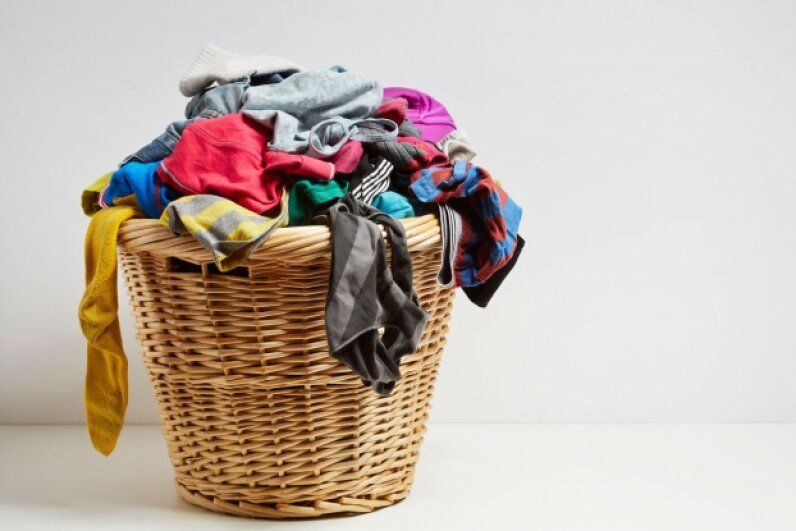 Every laundry basket harbors grossness. Serious grossness. © PaulMichaelHughes/iStockphoto