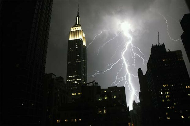 The Empire State Building has been struck several times in one day. Gregory Kramer/Getty Images