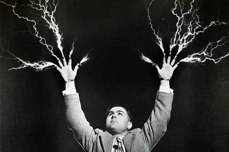 No, you can't get shocked from a person struck by lightning. So don't hesitate to offer aid. Paramount Pictures/Fotos International/Getty Images)