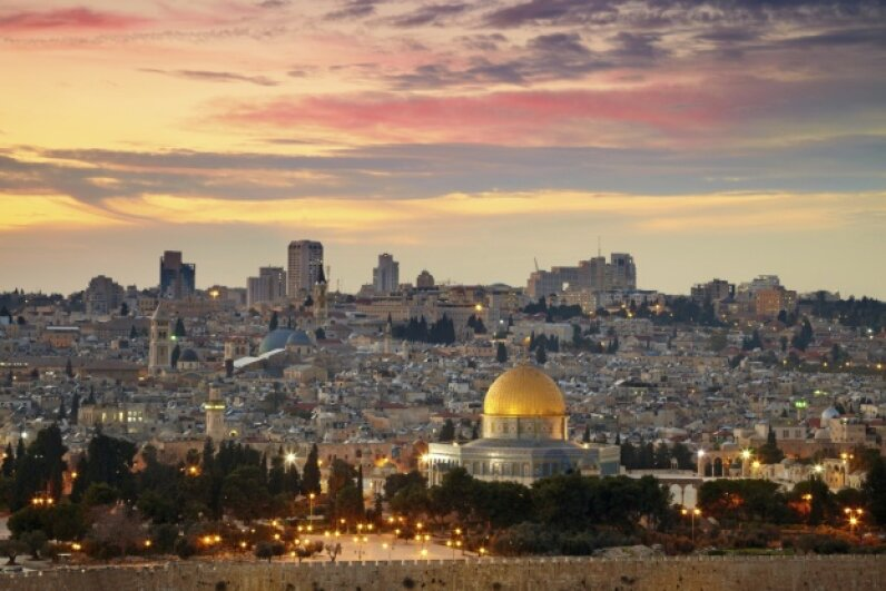 View of Jerusalem with the Dome of the Rock in the foreground silverjohn/iStock/Thinkstock