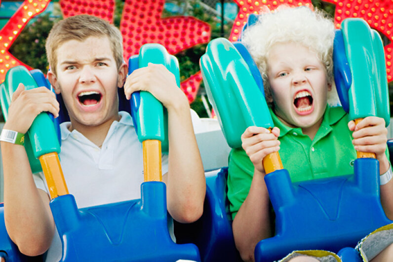 Positive and negative G forces are to blame for that sinking feeling your might get on a roller coaster. Petri Artturi Asikainen/Folio Images/Getty Images