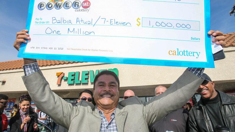 million dollar check